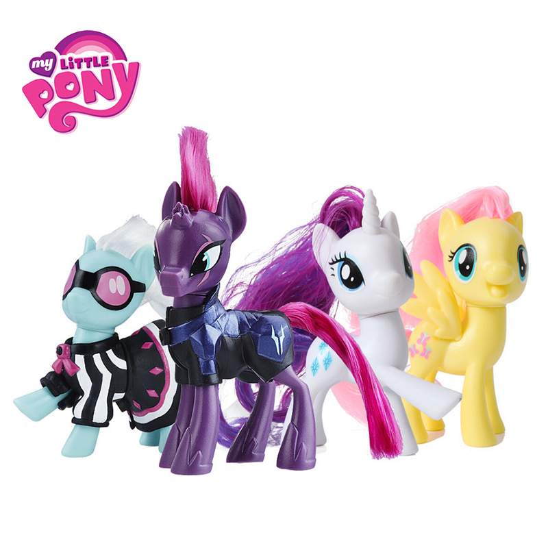 Hasbro My Little Pony Movie Toy Friendship is Magic Rainbow Pie Lyra Heartstring Rarity PVC Action Figure Collectible Model Doll my little pony toys the movie princess cadance celestia pvc action figure friendship is magic model doll glitter celrbration