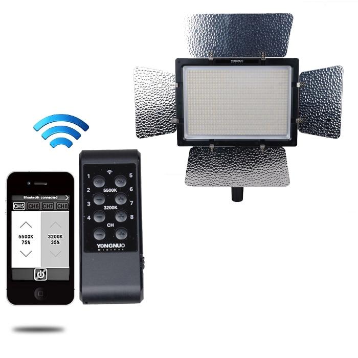 YONGNUO YN900 High CRI 95+ Wireless 3200K-5500K LED Video Light Panel,YN-900 900 Lamp Beans 7200LM 54W yongnuo yn900 54w 900 led 3200k 5500k adjustable video light w filters black