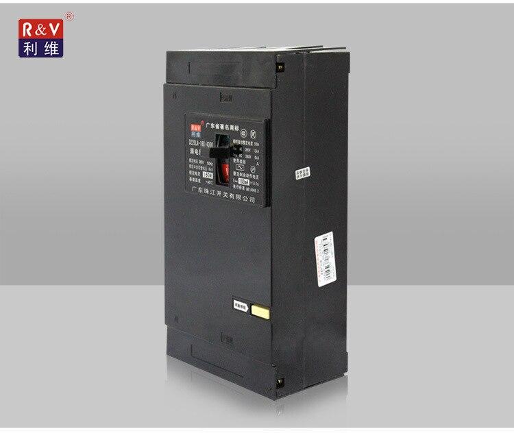 Disjoncteur à boîtier moulé fuite de terre MCCB avec RCD 3 P + N 160A