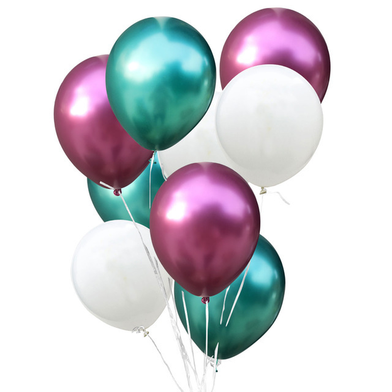 10pcs 12inch Mix Color Metallic Latex Balloons Baby Shower Birthday Party Decor Wedding Decoration Inflatable Air