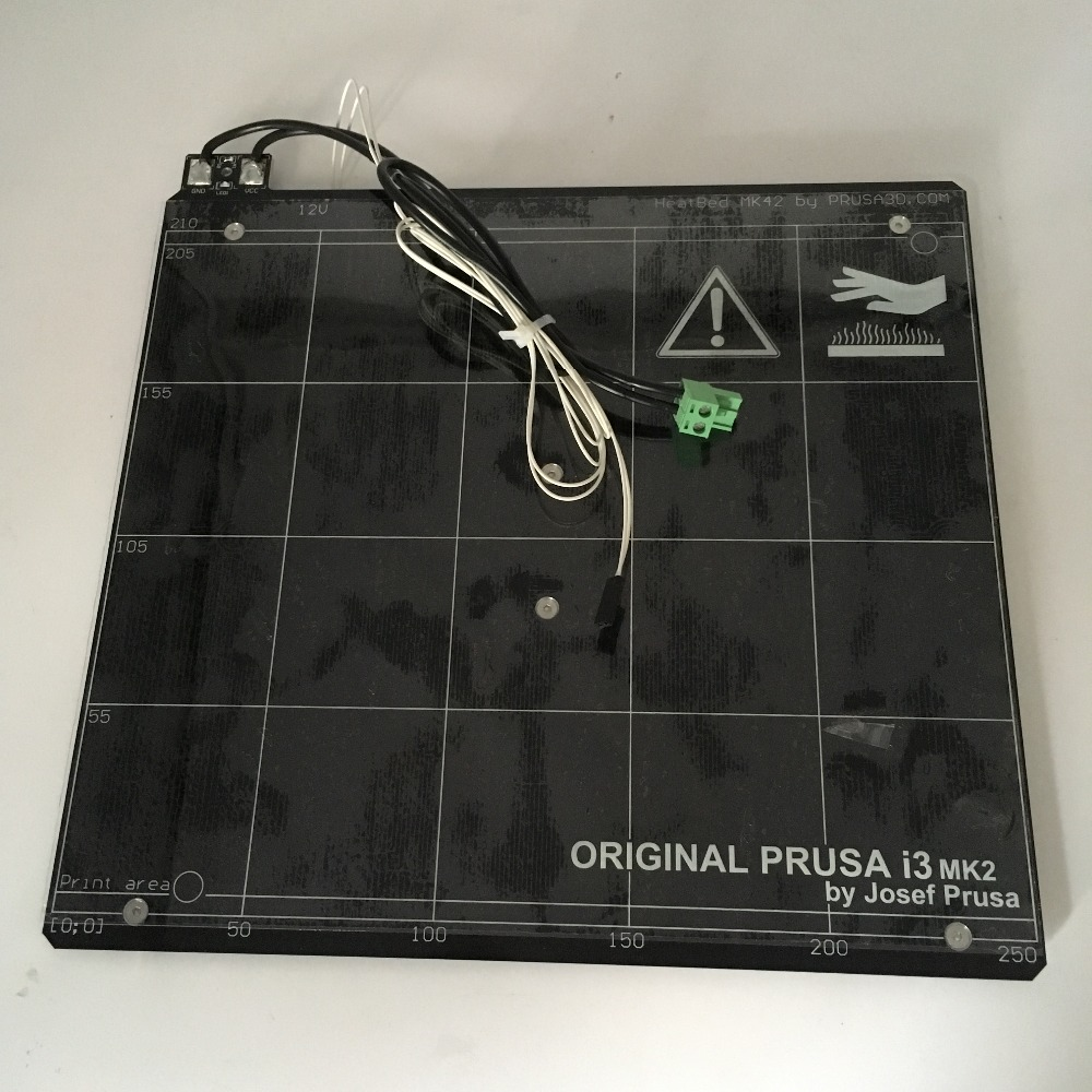 heated bed for Prusa i3 MK2 MK2S 3d printer heated bed with PEI tape aluminum alloy
