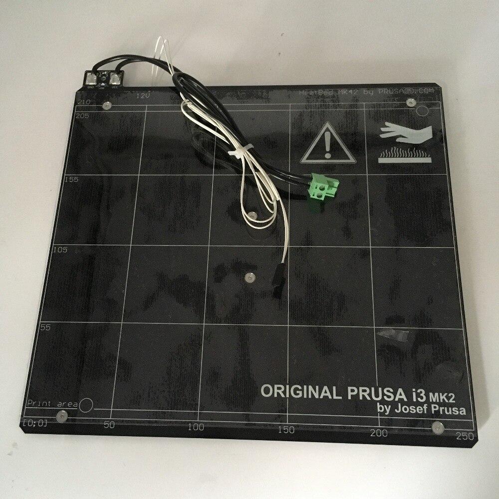 Кровать с подогревом для Prusa i3 MK2 mk2s 3D принтер кровать с подогревом с пей лента, алюминиевый сплав клон, совместимость с мини-Рэмбо 1.3a