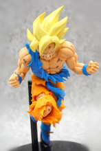 Anime Dragon Ball Z Super Jump 50th Anniversary Son Goku Figure Model Collection Toys 19cm цена в Москве и Питере