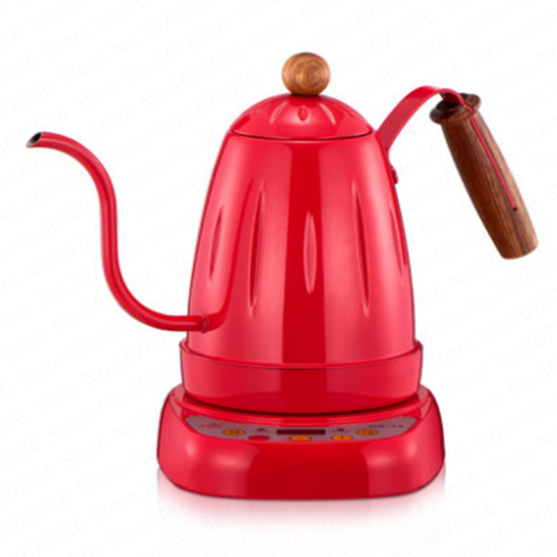 Electric coffee pot electric hand-washing pot set stainless steel fine mouth pot multi-function electric tea pot