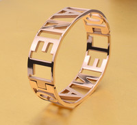 Fashion Rose Gold Plated Bangel For Women