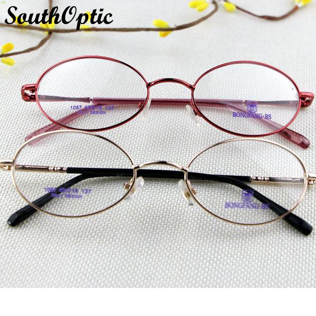 Сплав металла овальные весь рим рамки женщины мужчины италия дизайн очки близорукость минус óculos оптические 1087