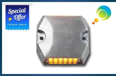 Road Stud Waterproof Non-flash 3m Reflector Road Stud Aluminum Shell Solar Powred Road Stud Led Landscape Signal Light Roadway Safety