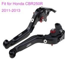 KODASKIN Left and Right Folding Extendable Brake Clutch Levers for Honda CBR250R 2011-2013