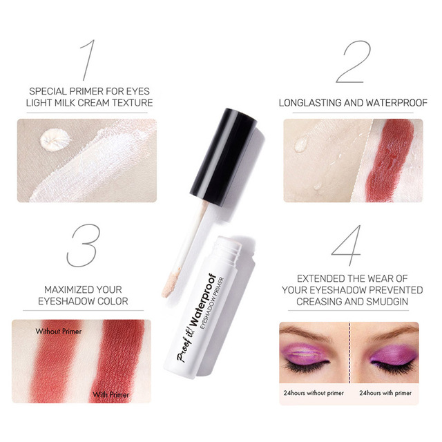 Eyes Makeup Primer Base Eyeshadow Primer Easy Wearing Waterproof Long-lasting Concealer 669 5