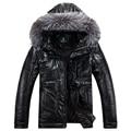 2016 Buena calidad masculina otoño por la chaqueta de invierno Con Capucha chaqueta de cuello Nagymaros abajo Cómodo y caliente por Los Hombres chaqueta 550