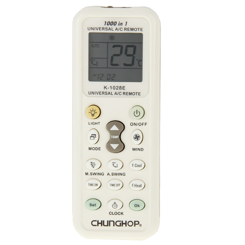 <font><b>Chunghop</b></font> K-<font><b>1028E</b></font> 1000 in 1 Universal A/C Remote Controller with Flashlight for air-conditioners image