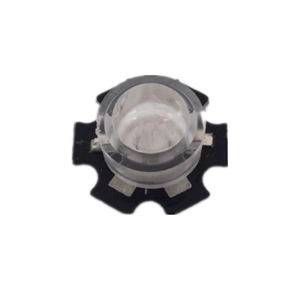 100 шт./лот 13 мм Светодиодные мини Линзы 45 60 90 100 градусов не нужно держатель 1 Вт 3 Вт синтезированные ИК светодиодные линзы питания рефлекторн...