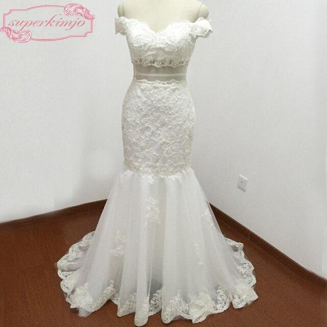 más nuevos vestidos de novia tribunal tren cariño escote de encaje