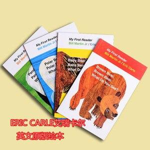 Image 2 - 4PCS Engels boek voor kinderen Mijn Eerste Reader Mini Bibliotheek: Bruine Beer, Bruine Beer, wat Zie Je? Educatief populaire boek