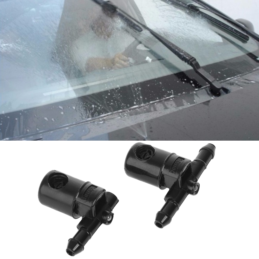 2Pcs Windscreen Washer Fan Spray Jets For Buick Opel 12782508 12782509 Function Water Nozzle