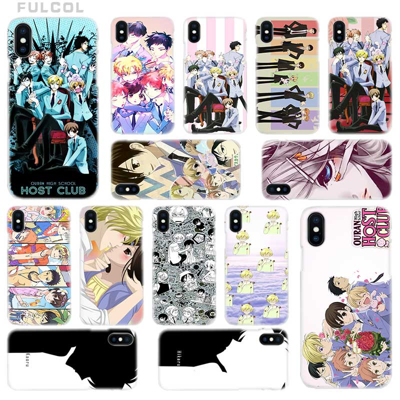 Fulcol The Ouran High School Host Club Transparent Hard Case Cover for iPhone 4 4s 5 5s 5c 6 6s 7 8 X XS Max XR Plus