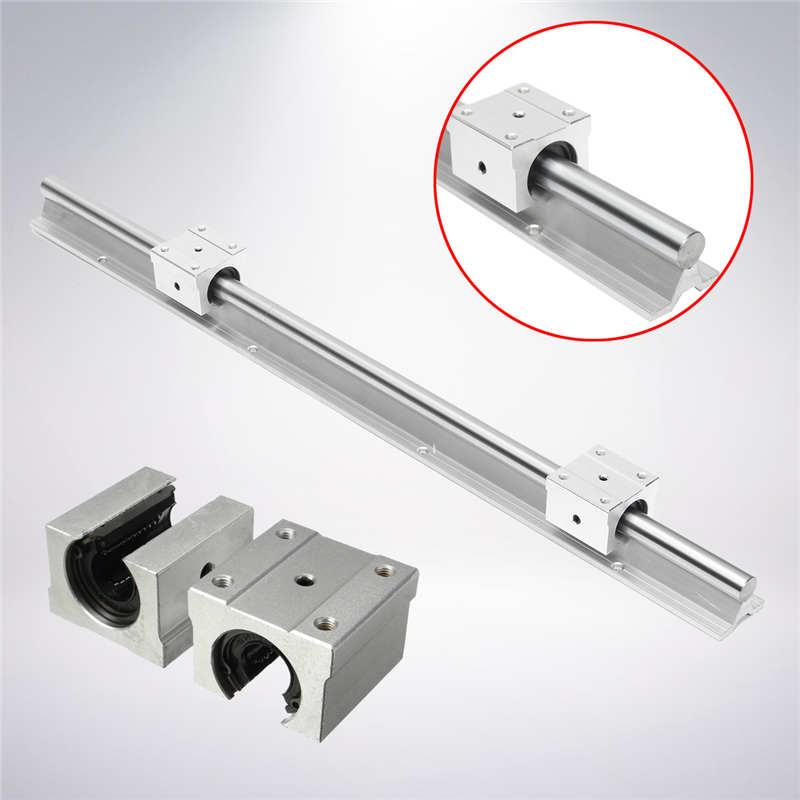 Support Linear Rail SBR16-600mm Optical Axis Guide + 2 SBR16UU Bearing Blocks Mechanical Hardware Engraving Woodworking  цены