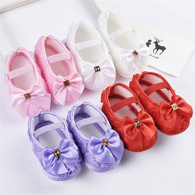 Baby Girls Kid Floral Crib Shoes Toddler Shoes Cute Cartoon Soft Sole Breathable Toddler ...