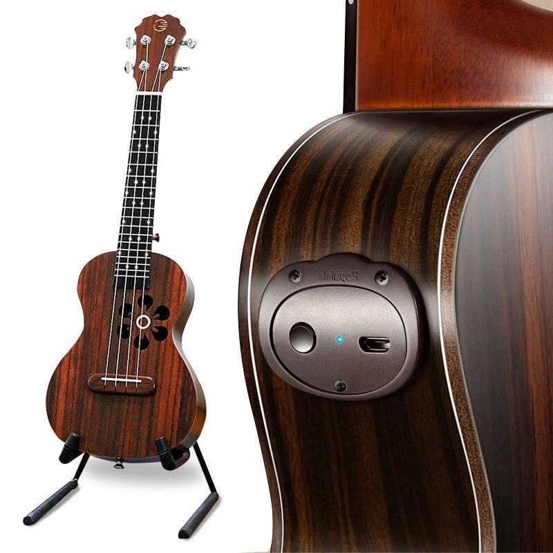 Populele S1 eléctrica acústica inteligente guitarra ukelele concierto Soprano de 23 pulgadas, 4 cuerdas Bluetooth ukelele accesorios para principiantes