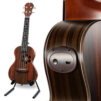 Populele S1 Acoustic Electric Smart Guitar Ukulele Concert Soprano 23 Inch 4 Strings Bluetooth Ukulele Accessories for Beginners
