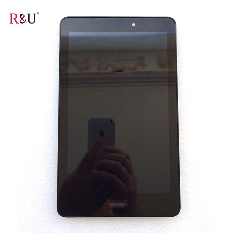 R&U high quality 8inch LCD Display + Touch Screen panel Glass digitizer Assembly with frame For Acer Iconia Tab 8 A1-840 A1 840 original new 10 1 inch touch panel for acer iconia tab a200 tablet pc touch screen digitizer glass panel free shipping