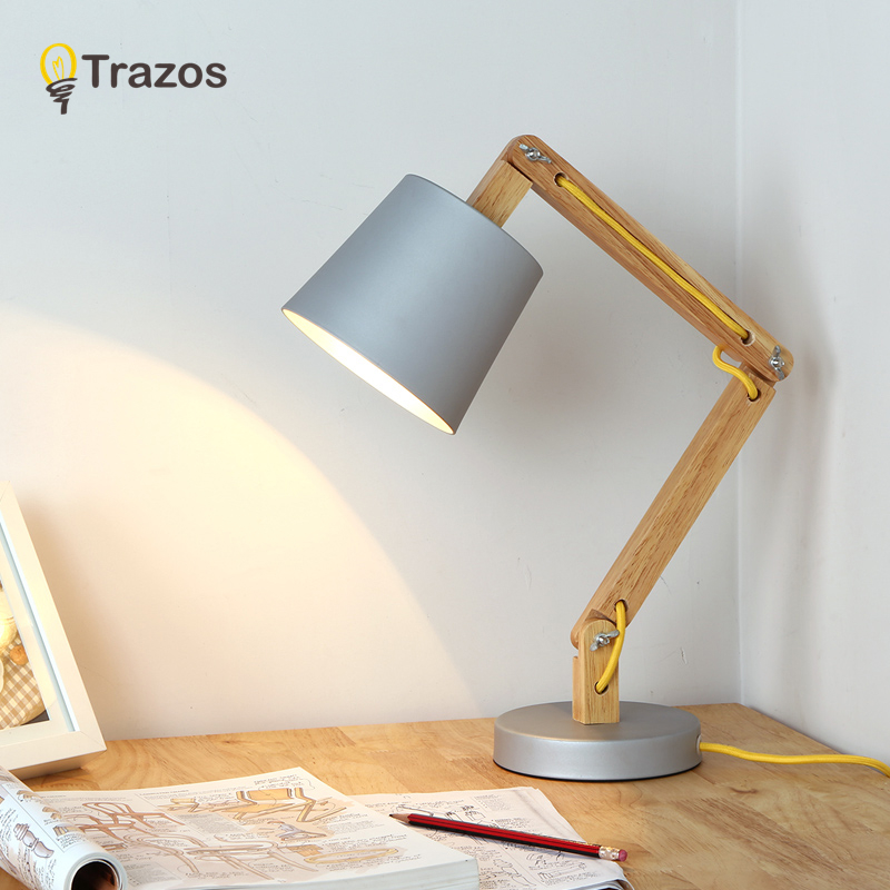 TRAOS Wooden Base Table Lamp Desk Lights LED Eye Protection Light Desk Table Lamp Dimmable Ouch Switch Table Lamp Study Lamp usb led desk lamp rechargeable table lamp touch switch dimmable table light eye protection for children table light adjustable