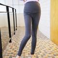 Мода весна и осень женщины живота брюки беременных женщин хлопка Леггинсы Для Беременных оптовая