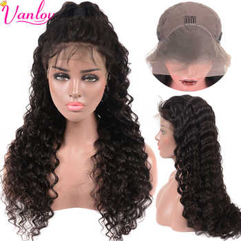 Vanlov Indian Lace Front Human Hair Wigs Deep Wave Wig Front Lace Wigs For Women Pre Plucked Lace Wig With Baby Hair 150% - DISCOUNT ITEM  40% OFF Hair Extensions & Wigs