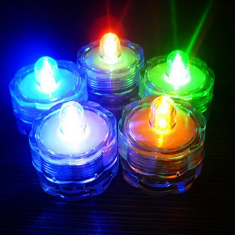 12pcs Waterproof Submersible LED NightLight Electronic Candle Light For Christmas Wedding Party Decoration Aquarium Led Lighting