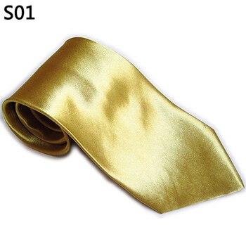 Men Fashion Business Casual Necktie Wedding Party Solid Color Plain Tie