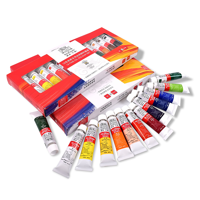12/18 Color Oil Paint 12ml Beginner Oil Paint Set Does Not Fade Waterproof Adult Boxed Tube Portable Beauty Art Supplies