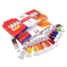 цена на 12/18 color oil paint 12ml beginner oil paint set does not fade waterproof adult boxed tube portable beauty art supplies