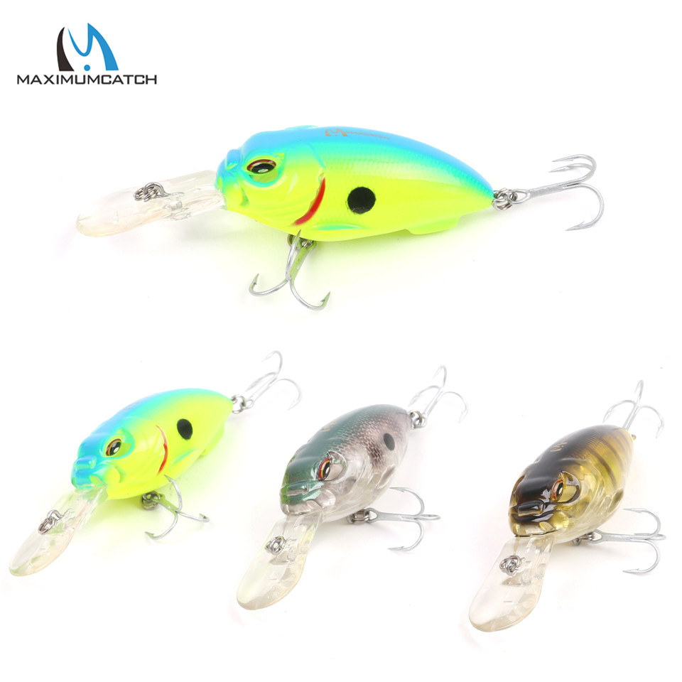 Maximumcatch Sinking 0-1.5m CrankBait Hard Fishing Lures 55mm / 13.5g Artificial Bait Med VMC Hooks
