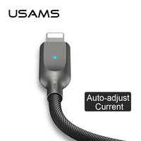 Auto Disconnect USB Lightnings Cable For IPhone X 8 7 6 Ipad USAMS Phone Light Cable