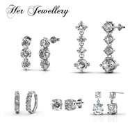 Her Jewellery 5 pair crystal earrings set for women earring fashion jewelry Made with crystals from swarovski HE0356