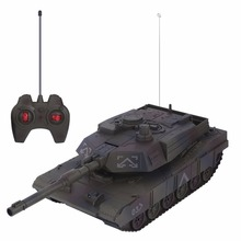 1:14 4CH Simulation RC Military Tank Turret Rotation Light & Music Remote Control Model Long Distance Control Kids Boy Toys Gift