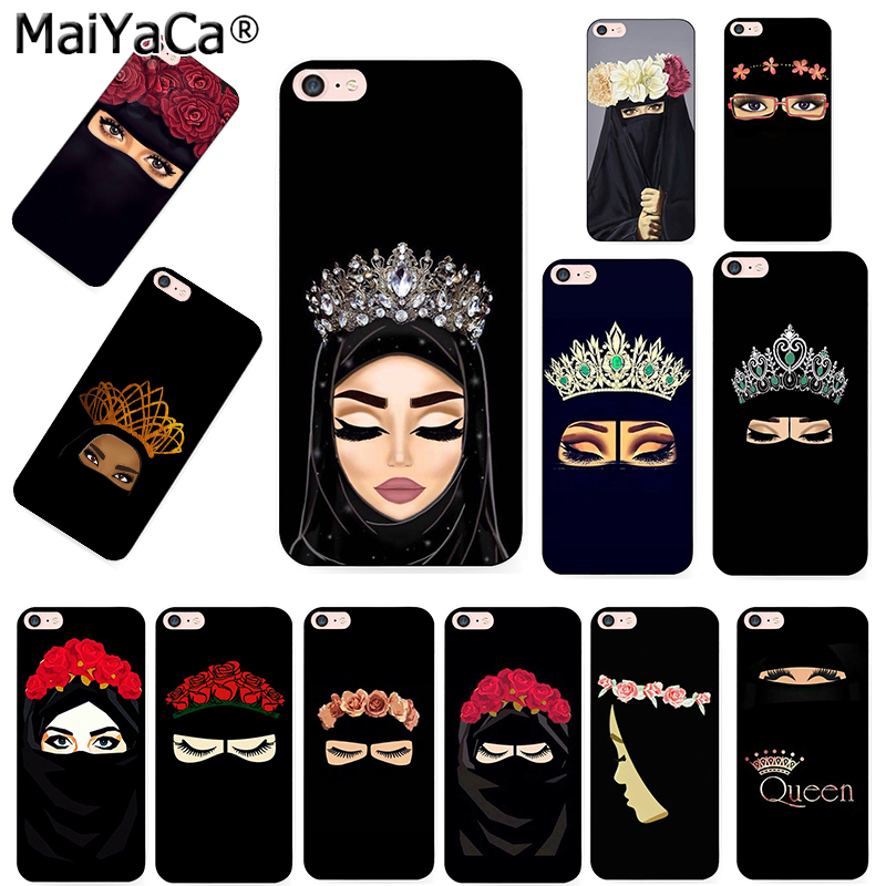 MaiYaCa Muslim Islamic Gril Eyes Unique Luxury soft tpu Silicon phone case for iPhone 8 7 6 6S Plus X 10 5 5S SE 5C Coque Shell