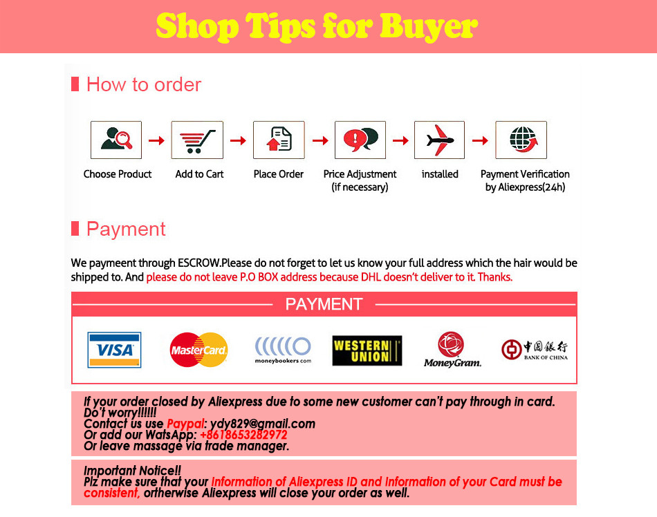 18 shop tips order and payment
