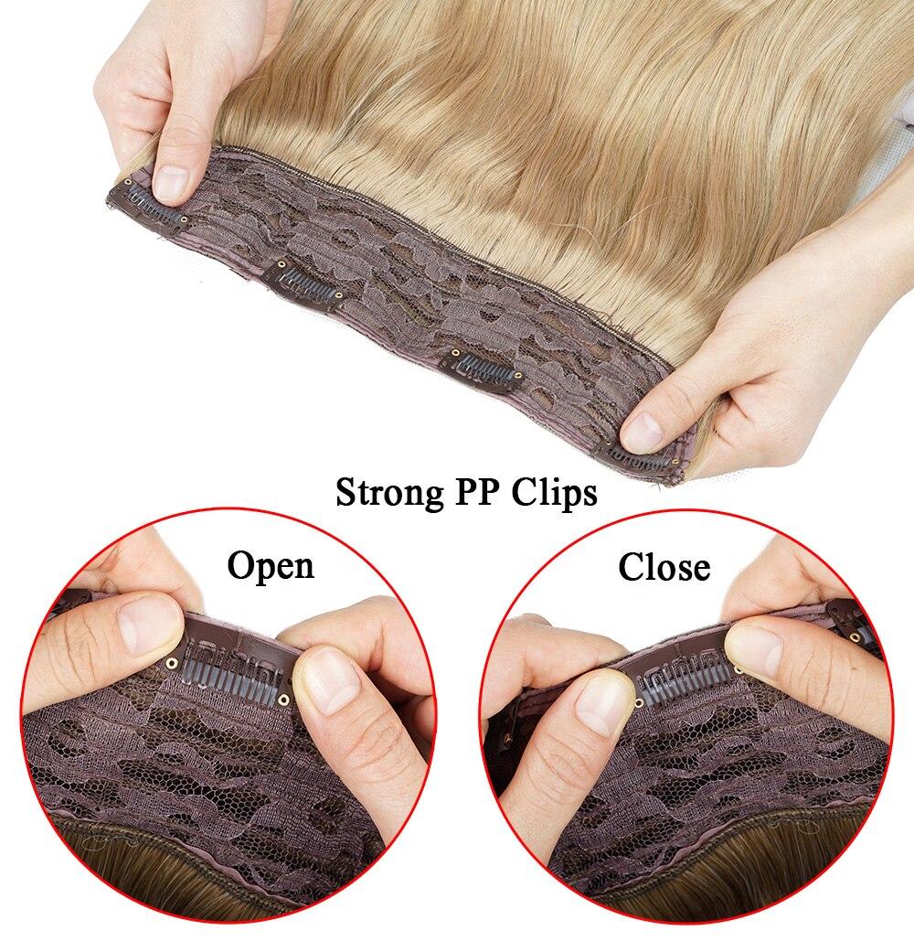falso cinza hairpieces uma parte esticada 24 polegada 60cm