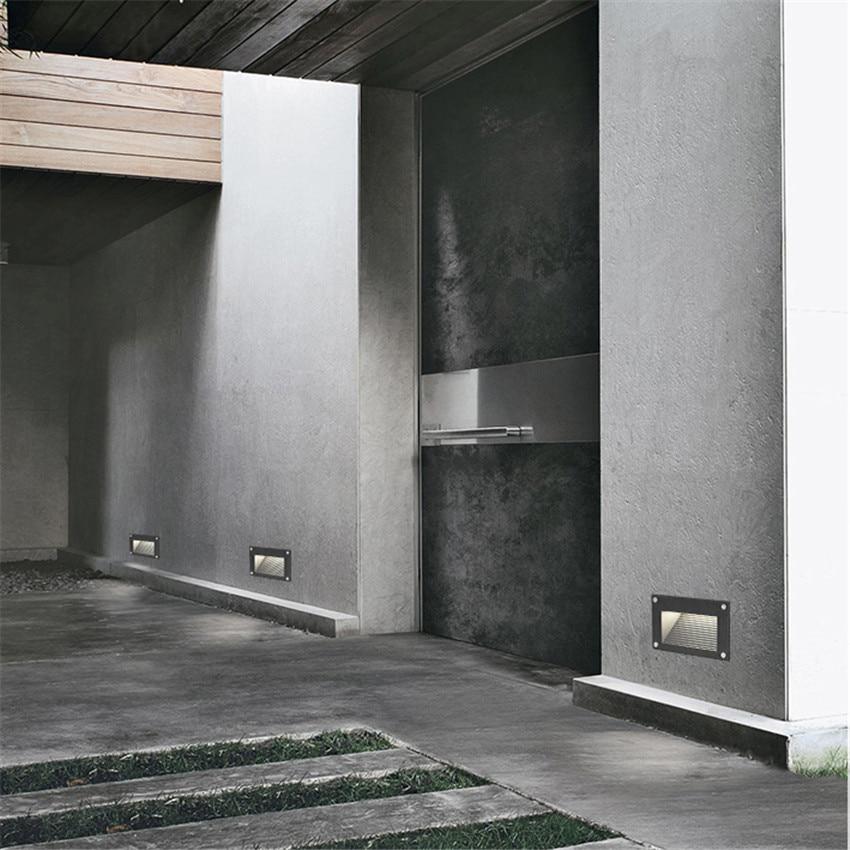 10pcs Wall Light LED Embedded footlight IP65 Waterproof  corner lights Villa Stair Step Lamp Wall Lamp Aisle Corner Lights BL25X