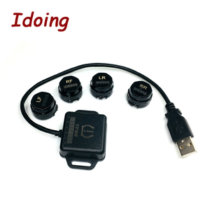 Image 2 - IDoing Special TPMS Newest technology Car TPMS Tire Pressure Monitoring System with mini Inner sensor Auto support Bar and PSI