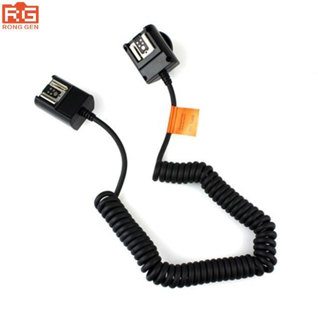 Godox TL C 3M kapalı kamera flaşı Speedlite TTL kablo ayakkabı Sync kablosu Canon 430EX II 1D 5D II III 7D 6D 70D 60D 700D 600D kamera