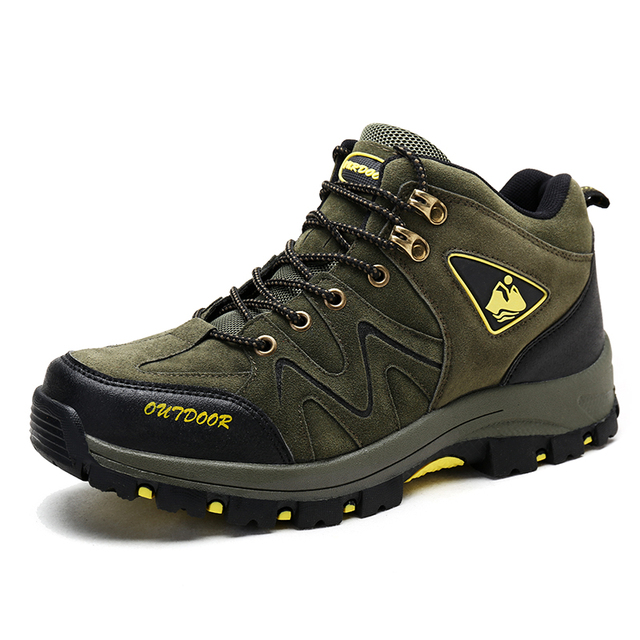 Clorts Lightweight Hiking Boots Mid-cut Mountain Outdoor Sneakers EVA Hiking Shoes Breathable Non-slip Climbing Shoes for Men