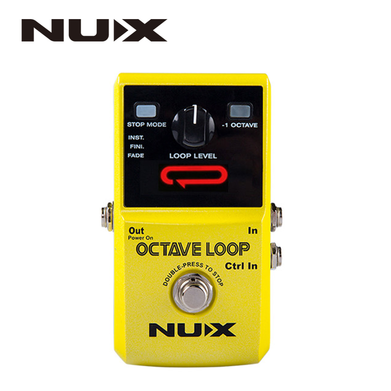 NUX Octave Loop Looper Pedal with -1 Octave Effect Infinite Layers with Bass-Line True Bypass Guitar Pedal Effect nux octave loop guitar pedal looper 5 minutes recording time electric bass built in octave effect accessories