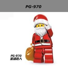 60pcs/lot PG970 Santa Claus Minifigures Christmas Cartoon Building Blocks Collection Toys X'mas Gifts Compatible Legoe Toys