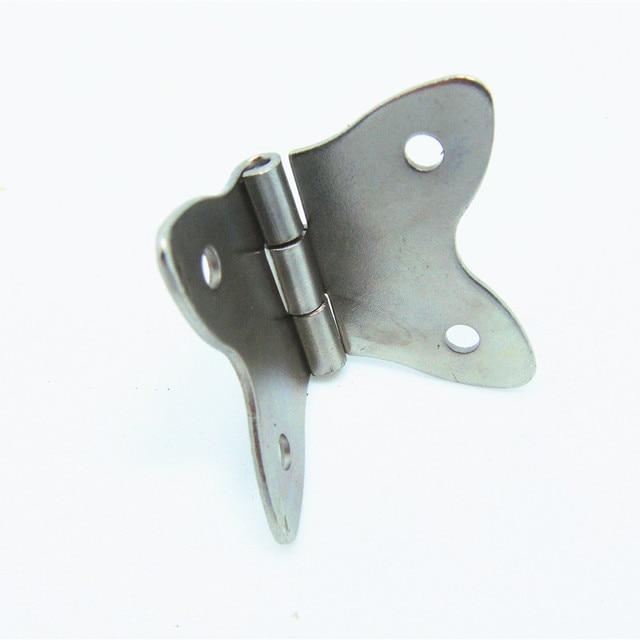 50pcs 37 30MM white butterfly hinge metal gift box craft hinge