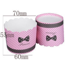 Big size 50pcs bride groom Rose Flowers themes paper baking cake cups liners cupcakes boxes holder wedding party supplies(China)