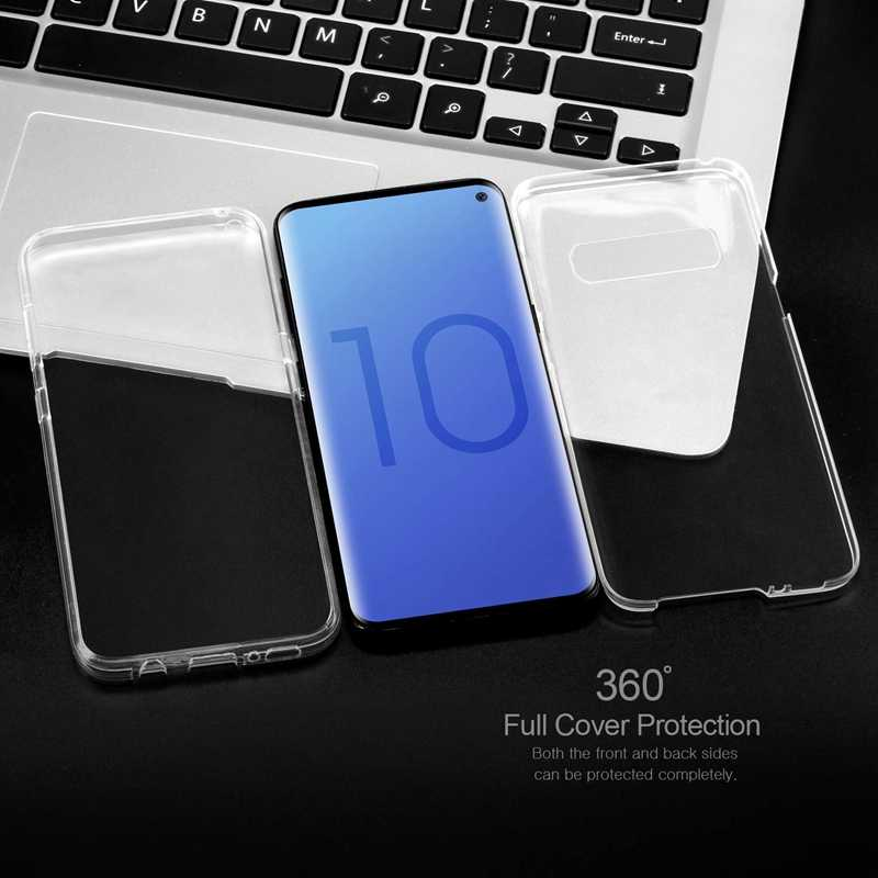 TPU 360 Degree Clear Case for Samsung Galaxy S10 Plus S10e S8 S9 A6 A8 J6 Plus 2018 A7 A9 J8 J3 J5 J7 2017 Note 9 8