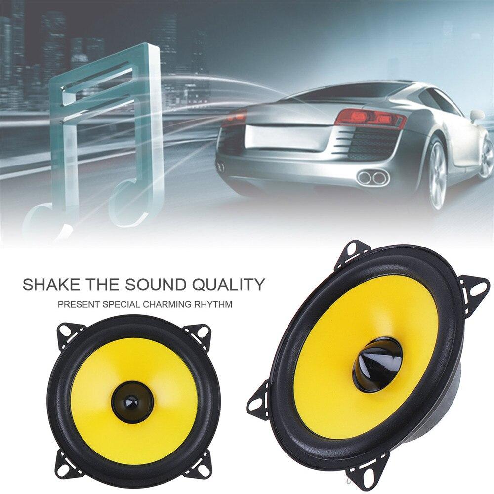 LABO 2шт 4 дюйма 60 Вт 88дб 2-полосная полнодиапазонная частота автомобильный аудио стерео коаксиальный динамик автомобильный громкий динамик