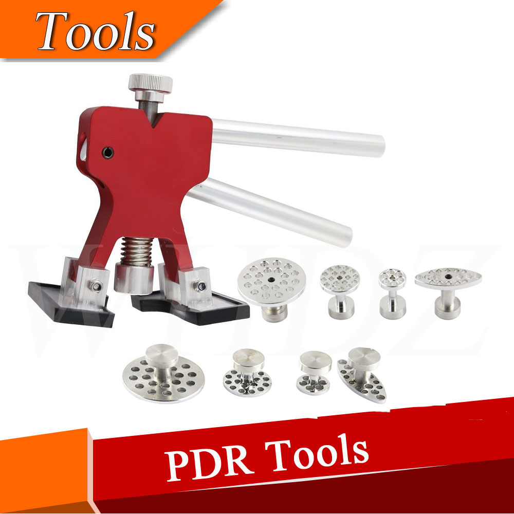 Dent handle Aluminum Mini Lifter with 8 Pieces Aluminum Glue Puller Tabs Paintless Dent Repair  цены